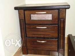 Side table two drawers wooden SAR 100