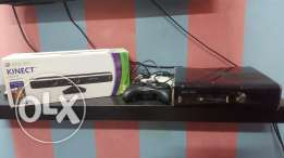 Xbox 360 Modded 45+ Games/2 controllers/Kinect/250 GB for sale