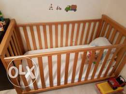 Baby Cot Bed plus mattress