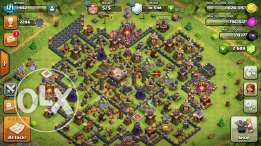 للبيع قريه clash of clans town hall 12