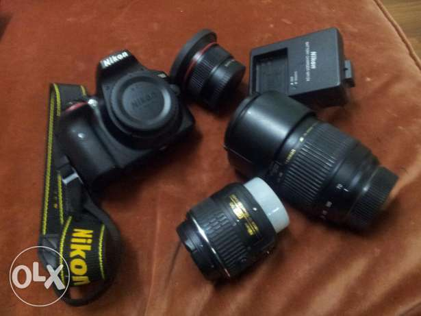 Nikon d3300 with 2lenses + ultra wide and macro lence with all accesso جدة -  2