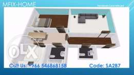 2 Rooms I 1 Bedroom I Fitted ACs, Kitchen I Brand new I 2 Toilets I