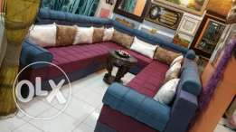 beautiful & rich looking u shape 14 seater sofa set in nice color them