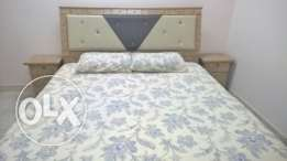 Double Bed-set with Mattress, Six-door Wardrobe and Dressing Table