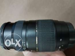 Tamron lens 70/300 zoom with perfect condition used only with filter