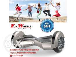 silver bluetooth 8 inch funwheels electric scooter - سكوتر كهربائي