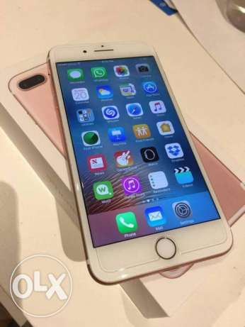 iphone7 plus rosegold 128 gb unlock with bill and 1 year warranty