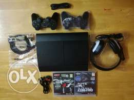 PlayStation 3 500 gb with 2 Controllers and 2 Games and New Headphones