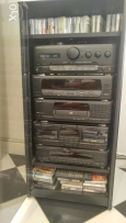 Kenwood home audio system with original Kenwood cabinet