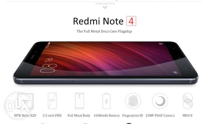 Original Xiaomi Redmi Note 4- 64g
