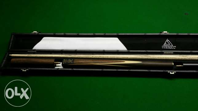 """CUESOUL 57"""" Handcraft 3/4 Jointed Snooker Cue Set -Rosewood Butt الرياض -  7"""