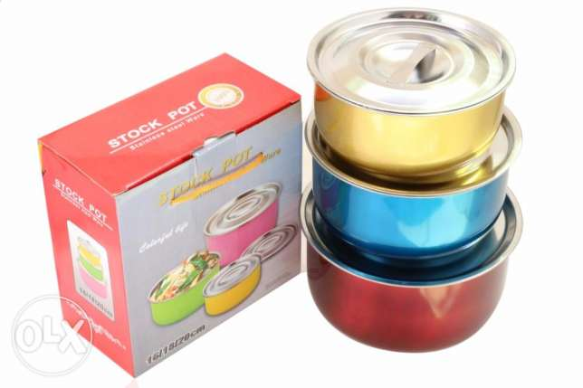 Stainless Steel 3pcs Containers