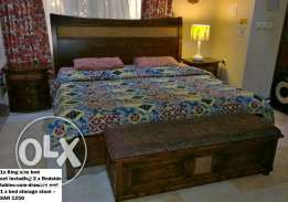 For Quick Sale: Further Discount on (used) Al Omar Furniture Bed Set