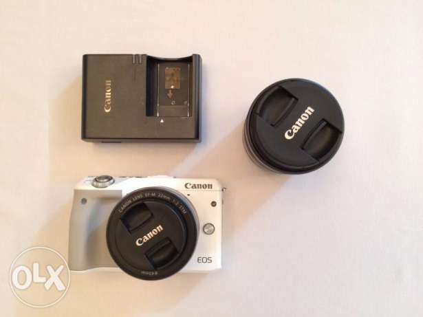Canon EOS M3 with TWO lenses on SALE (Used)