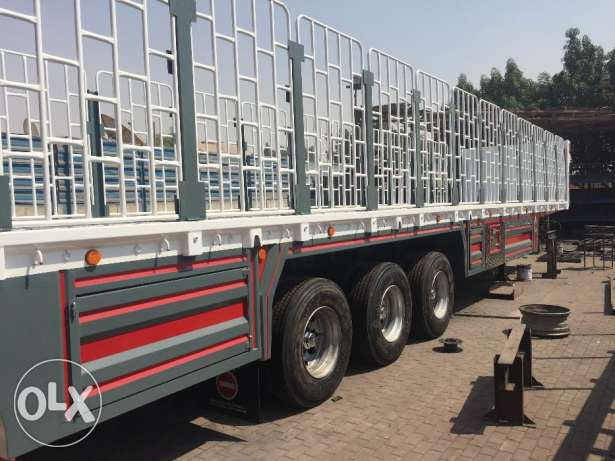 new 3 axle flat bed trailers with warranty of chassis, tyre and axle