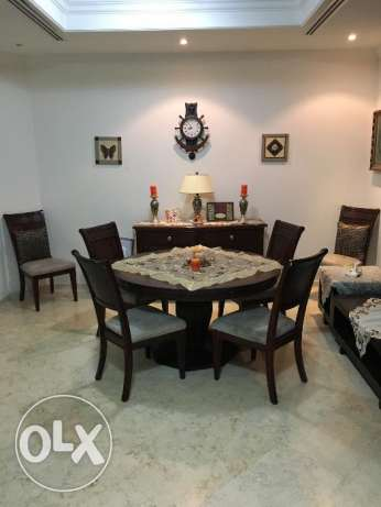 Dining Table with 6 Chairs + Sideboard Buffet