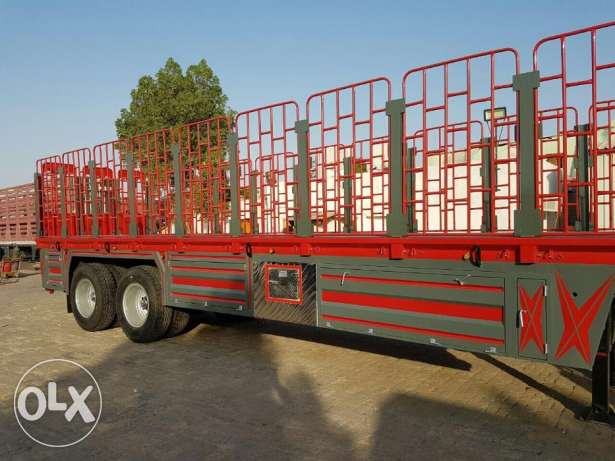 new flat bed trailers with bogie, jaali, 65 ton capacity 5 Y warranty