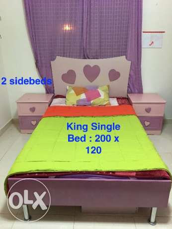 reduced price-Full pink Bed room with Free gifts - well maintained