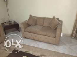 7 seater sofa with 4 side tables and carpet