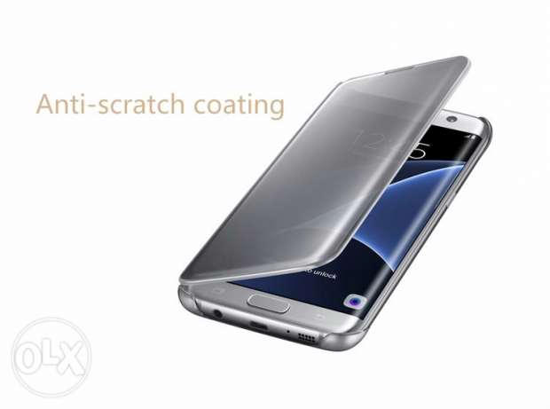 Original Samsung Galaxy S7 Clear View Mirror UV Case Flip Smart Phone