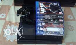 PS4 500GB 6 Games 1 controller ( Fixed price )