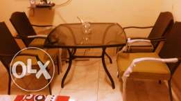 Loungue chairs with table
