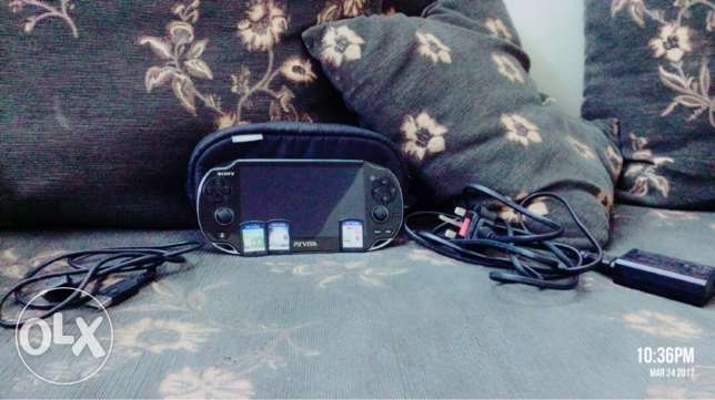 PS VITA with 3 games for 600 riyals