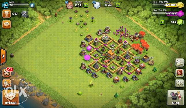 Clash of clans town hall level 7 جدة -  2