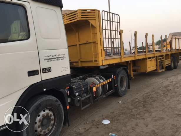 volva fh12 420 with 40fit grilled trailer for sale