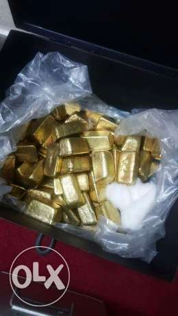 22 carats of Raw gold and gold bars for sale