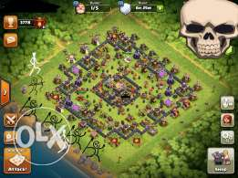 clash of clans t h 11. قريه كلاش لوف كلانس تاون ١١للايفون فقط
