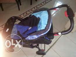 Baby stoller with baby seat
