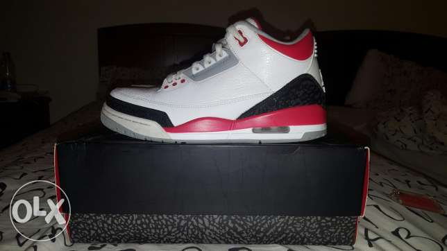 Jordan 3 Retro Fire Red! *RARE* Size US 8, UK 7,& Europe 41!
