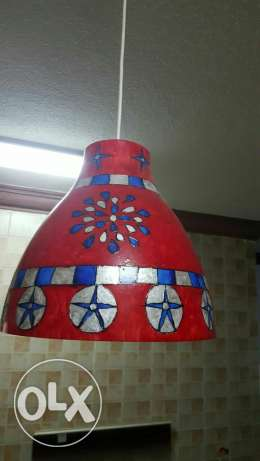 Hand painted lamp shades for sale الرياض -  2