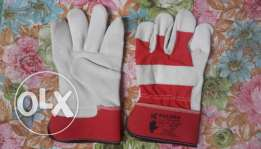 Working safety gloves 10 inches AB grade leather