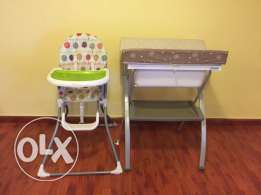 Baby high chair and bath