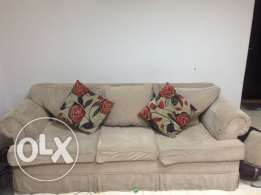 Sofa 3+2 seats + 2 chairs + Dinning table with 4 chairs