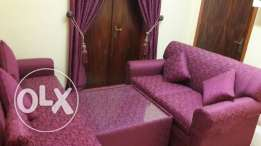 Brand new Sofa set with matching curtain