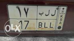 Special number plate 17 BLL