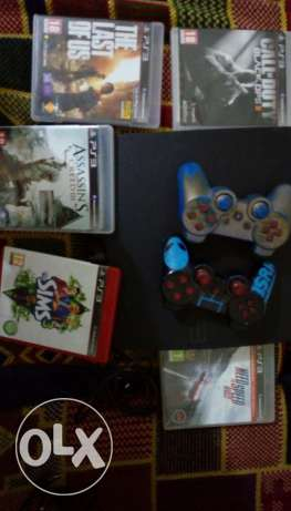 PS3 + 5 Games + 2 Controller