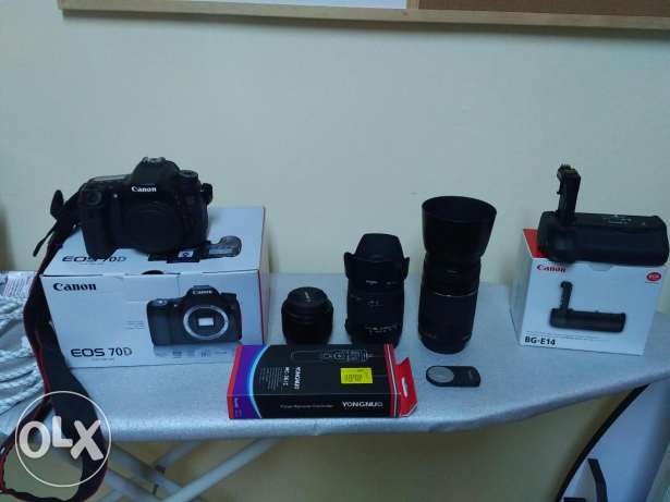 Canon 70D with a lot of accessories