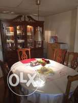 Italian Wooden Dining Table 6-8 seater set