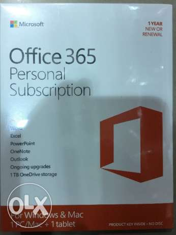 Microsoft office 365 personal subscription,1 year