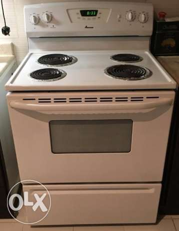 Amana Range (Oven) White with 4 coil elements - leaving KSA