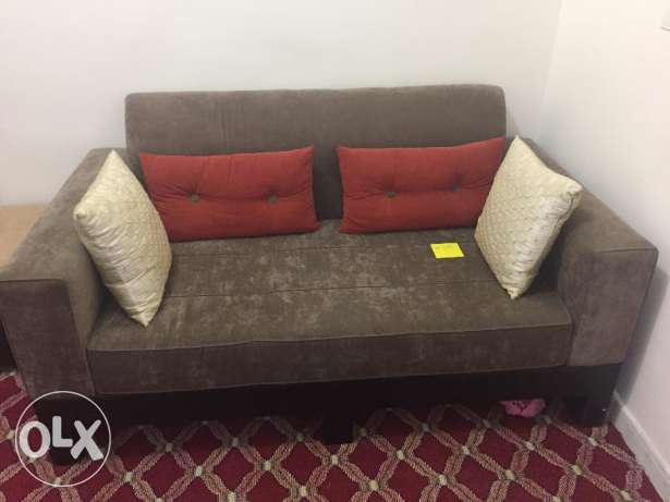 High Quality Fabric Sofas (2 Sofas x 2 seater each)