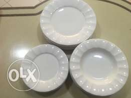 White Porcelain Dinner Set for 6