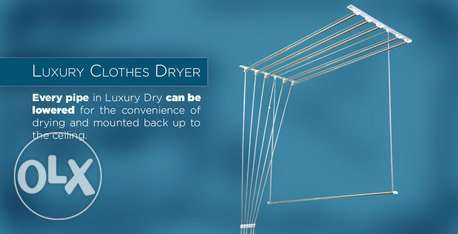 Ceiling mounted clothes dryer