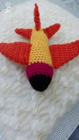 Hand crocheted soft toy plane!
