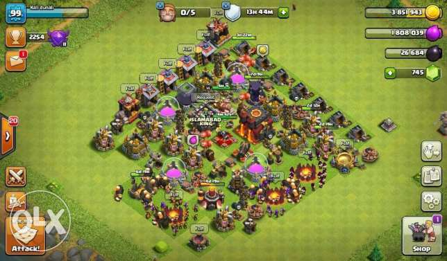 Clash of clan sale id th10 max rusher