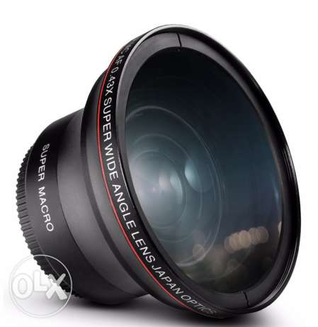 DSLR Wide Angle Lens w/d Macro - 67mm thread size الدلم -  1